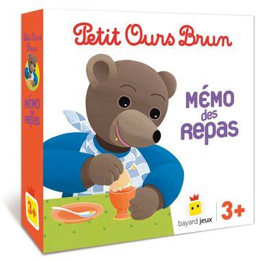 Couverture de «Jeu Petit Ours Brun – Mémo des repas»