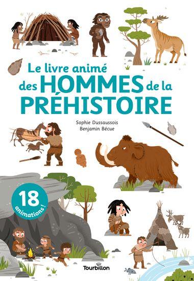 Couverture de «Le livre animé des hommes de la préhistoire»