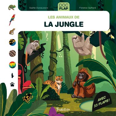 Couverture de « Les animaux de la jungle »