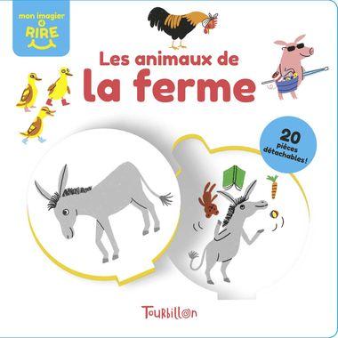 Couverture de «Les animaux de la ferme – Mon imagier à rire»