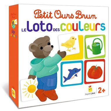 Couverture de «Jeu Petit Ours Brun – Le loto des couleurs»