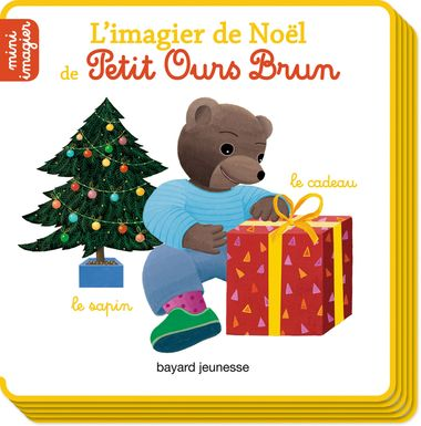 Couverture de «L'imagier de Noël de Petit Ours Brun»