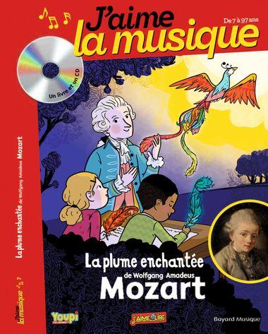 Couverture de «La plume enchantée de Wolfgang Amadeus Mozart»