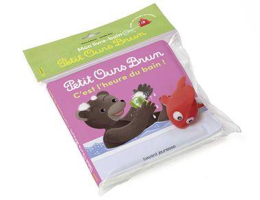 Couverture de «Livre bain Petit Ours Brun – C'est l'heure du bain !»