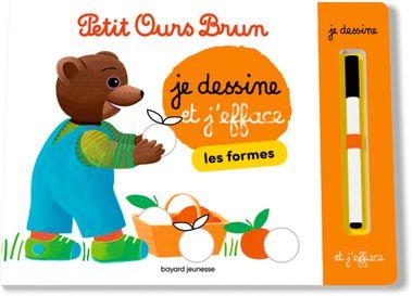 Couverture de «Je dessine et j'efface les formes avec Petit Ours Brun»