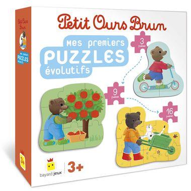 Couverture de «Mes premiers puzzles évolutifs Petit Ours Brun»