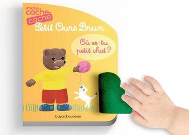Couverture de «Mini cache-cache Petit Ours Brun – Où es-tu petit chat ?»