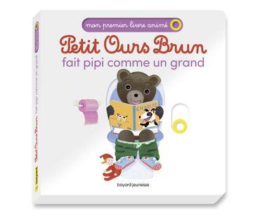 Couverture de «Petit Ours Brun fait pipi comme un grand – Mon premier livre animé»