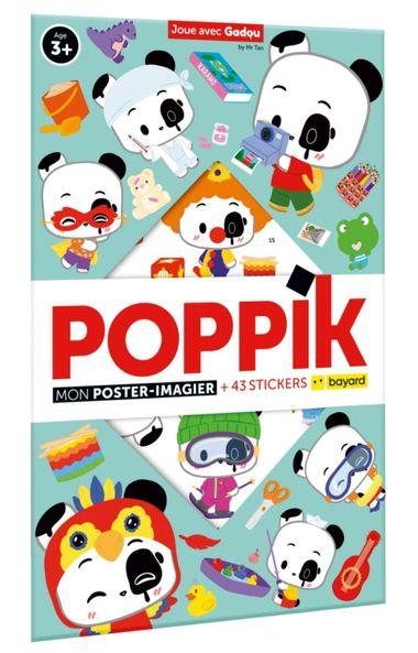 Couverture de «Joue avec Gadou – Mon poster-imagier Poppik + 43 stickers»