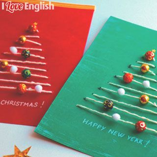 "Crédits : ""Christmas tree cards"" (cartes de Noël), I Love English for Kids! n°200, décembre 2018. Photos et réalisation : Maureen Nicolas. Illustrations : Henri Fellner.""Christmas tree cards"" (cartes de Noël), I Love English for Kids! n°200, décembre 2018. Photos et réalisation : Maureen Nicolas. Illustrations : Henri Fellner."